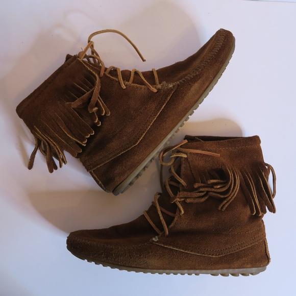 Women's Minnetonka Brown Tramper Boot - Size 8